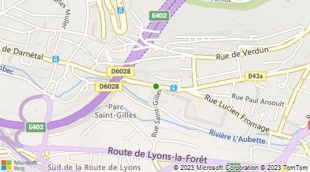 Plan d'accès au taxi Bouquet Jacques