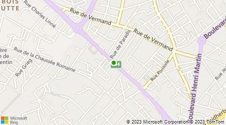 Plan d'accès au taxi Hermont Thierry