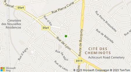 Plan d'accès au taxi ABC Taxi Arras