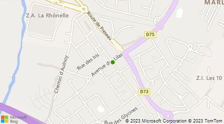 Plan d'accès au taxi TSS (Taxis Saint Saulve)