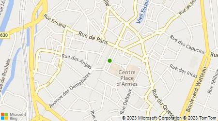 Plan d'accès au taxi Groupement des Radios Taxis Valenciennois