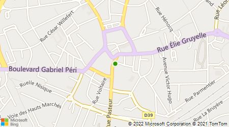 Plan d'accès au taxi Allo Carnot Taxi Hénin Beaumont
