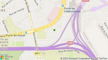 Plan d'accès au taxi Taxis Lille Métropole