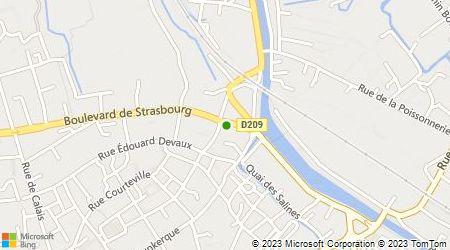 Plan d'accès au taxi Saint Omer Taxis