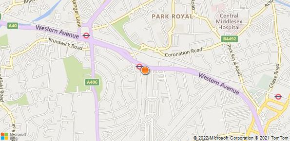 Map of Lookers Land Rover, Park Royal