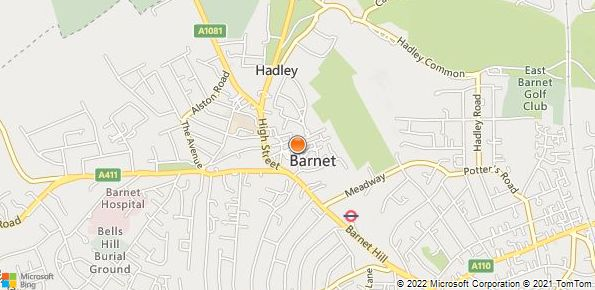 Map of Grange Barnet Land Rover
