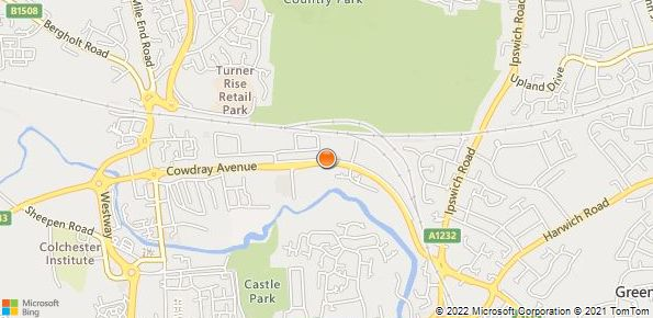 Map of Lookers Land Rover, Colchester