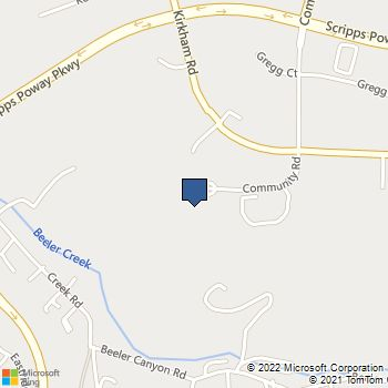 Map of Best Buy Warehouse at 11885 Community Rd, Poway, CA 92064