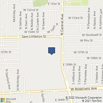 Map of Best Buy Warehouse at 1701 N Central Ave, Los Angeles, CA 90059