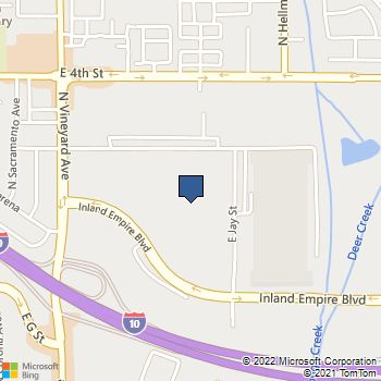Map of Best Buy Warehouse at 2104 E Jay St, Ontario, CA 91764