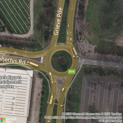 Bing Map of roundabout