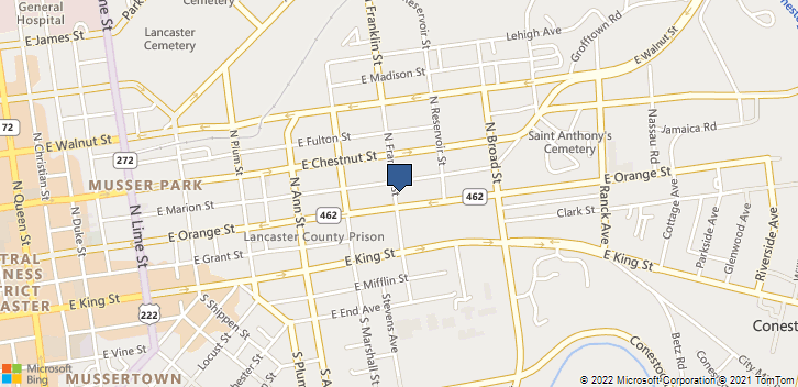 115 North Franklin Street Lancaster, PA, 17602 Map