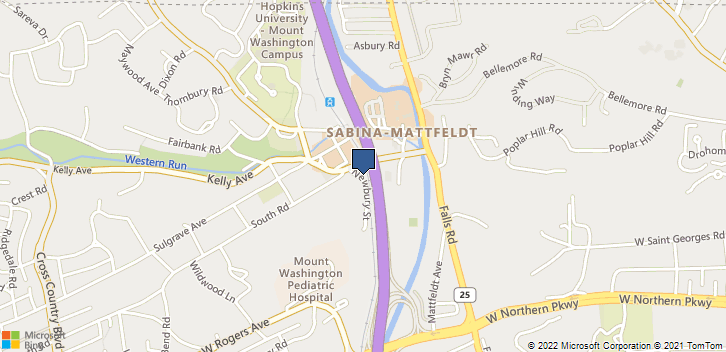 5601 Newbury Street Baltimore, MD, 21209 Map