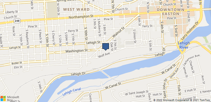 750 Washington Street Easton, PA, 18042 Map