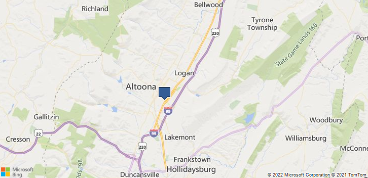 Altoona, PA, 16602 Map