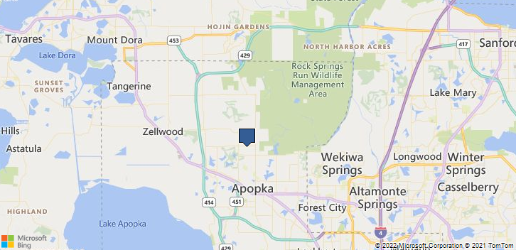 Apopka, FL, 32712 Map