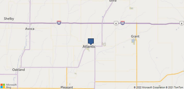 Atlantic, IA, 50022 Map