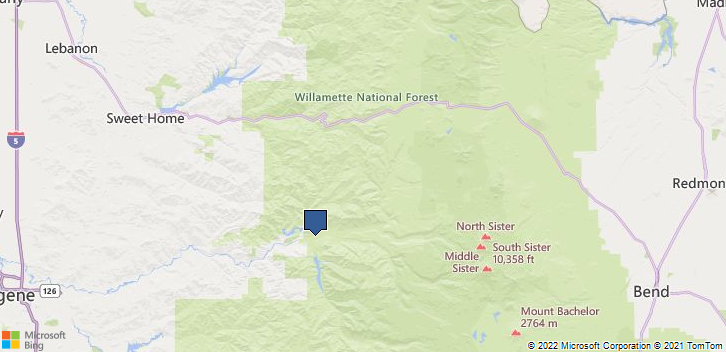 Blue River, OR, 97413 Map