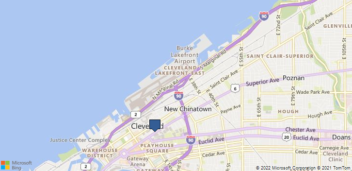 Cleveland, OH, 44114 Map