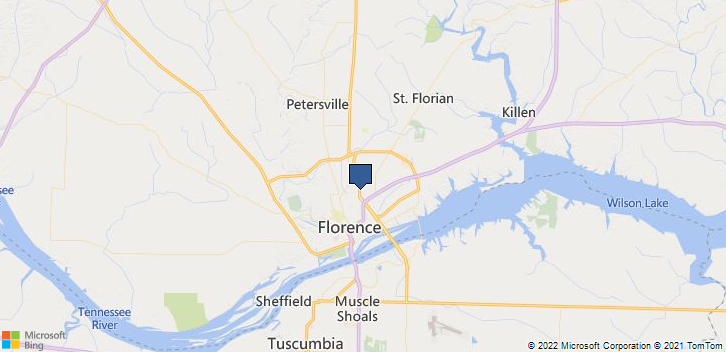 Florence, AL, 35630 Map