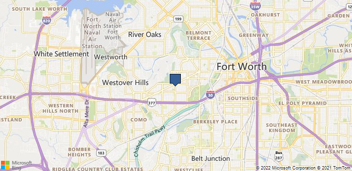 Fort Worth, TX, 76107 Map