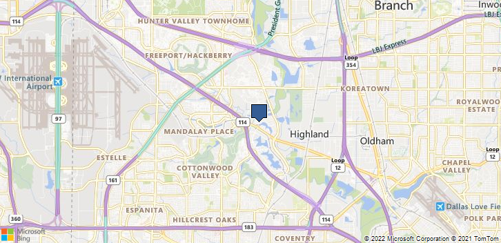 Irving, TX, 75039 Map