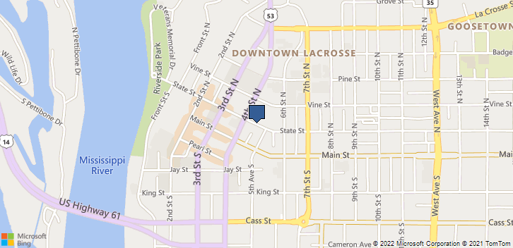La Crosse, WI, 54602 Map