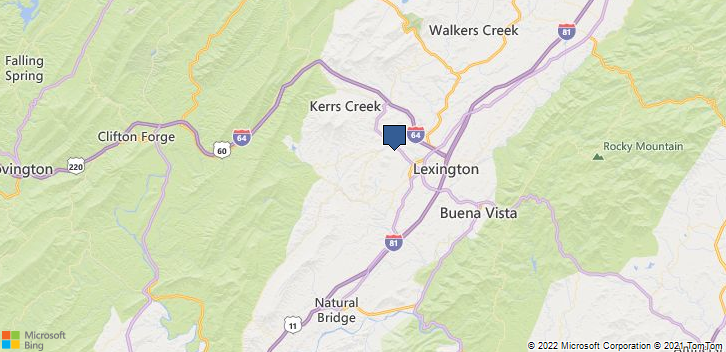 Lexington, VA, 24450 Map