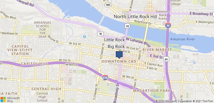 Little Rock, AR, 72201 Map
