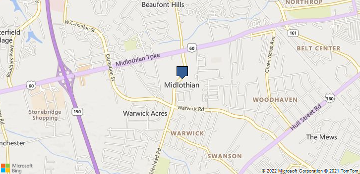 Midlothian, VA, 23113 Map