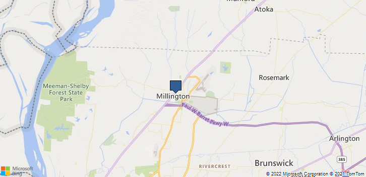 Millington, TN, 38053 Map