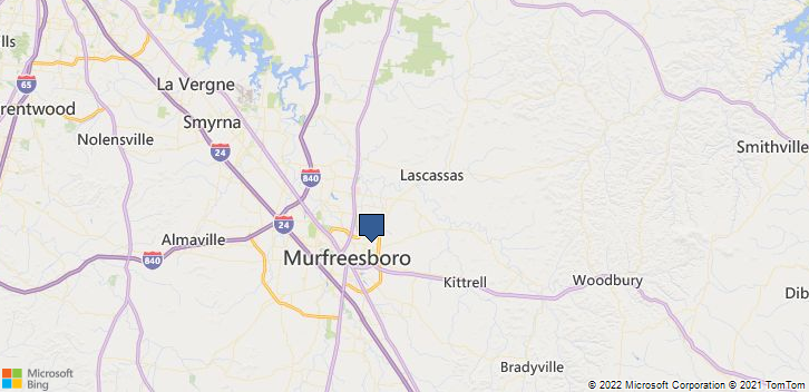 Murfreesboro, TN, 37130 Map