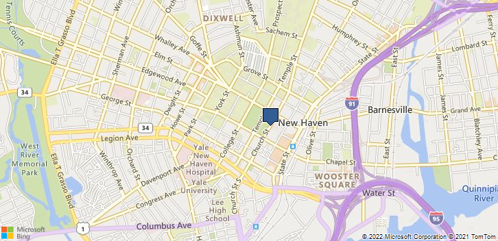 New Haven, CT, 06510 Map