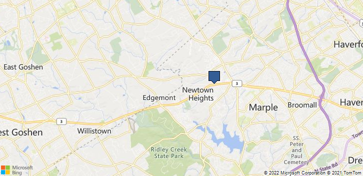 Newtown Square, PA, 19073 Map