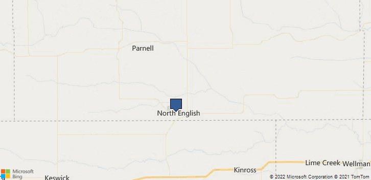 North English, IA, 52316 Map
