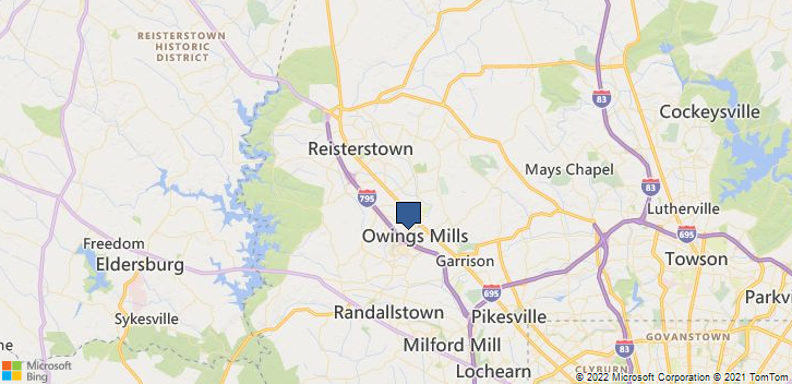 Owings Mills, MD, 21117 Map