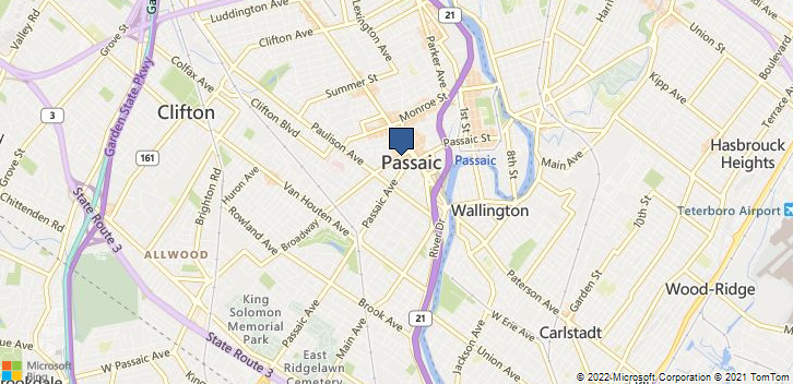 Passaic, NJ, 07055 Map