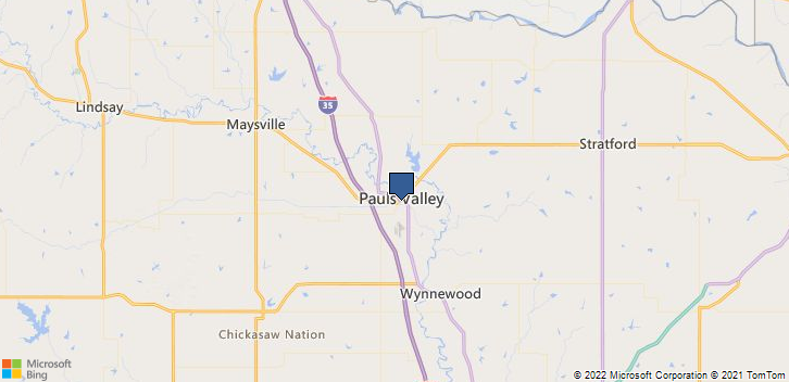 Pauls Valley, OK, 73075 Map