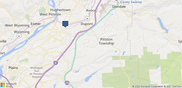 Pittston, PA, 18640 Map