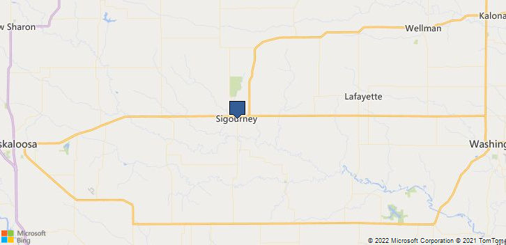 Sigourney, IA, 52591 Map