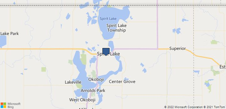 Spirit Lake, IA, 51360 Map