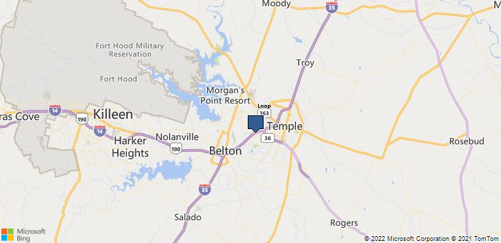 Temple, TX, 76502 Map