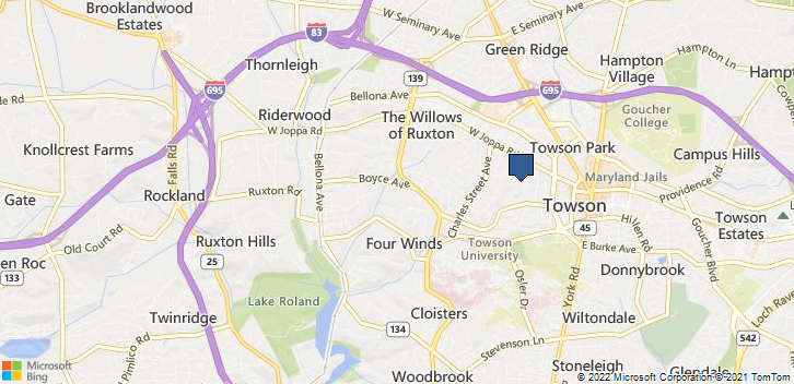 Towson, MD, 21204 Map