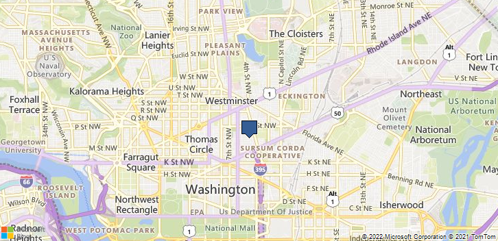Washington, DC, 20001 Map