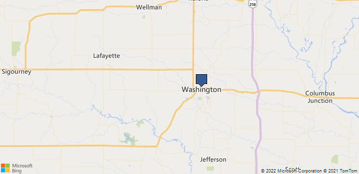 Washington, IA, 52353 Map