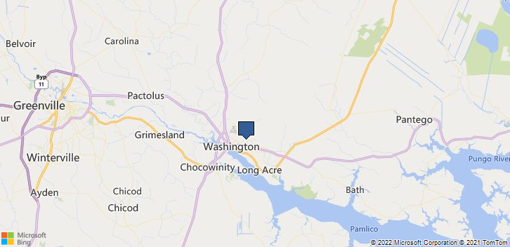 Washington, NC, 27889 Map