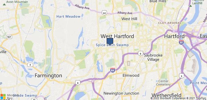 West Hartford, CT, 06107 Map