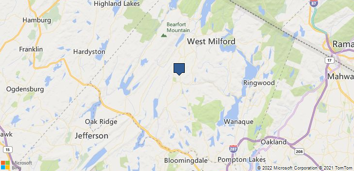West Milford, NJ, 07480 Map