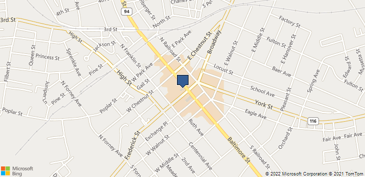 1 Center Square, Suite 3 Hanover, PA, 17331 Map