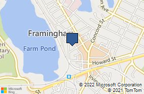 Bing Map of 1 Franklin Cmns Framingham, MA 01702